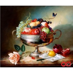 Goblen de diamante - Castron cu fructe