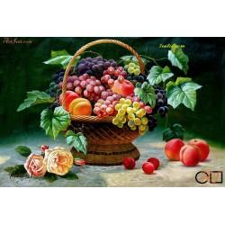 Goblen de diamante Culorile toamnei si fructele