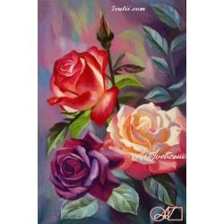 Goblen de diamante Trandafiri salbatici