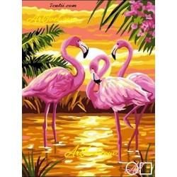 Goblen de diamante Flamingo-urile roz