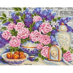 Pictura pe numere -Flori si dulciuri