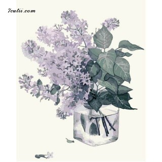 Pictura pe numere -Aroma si liliac violet