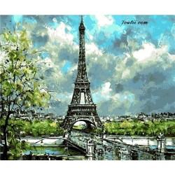 Pictura pe numere - O zi cu nori la Paris