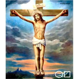 Goblen de diamante Isus pe cruce