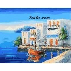 Pictura pe numere - La mare in Grecia