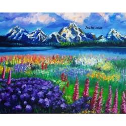 Pictura pe numere - Vedere din muntii Carpati