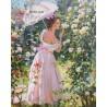 Pictura pe numere - Femeie frumoasa printre frori frumoase