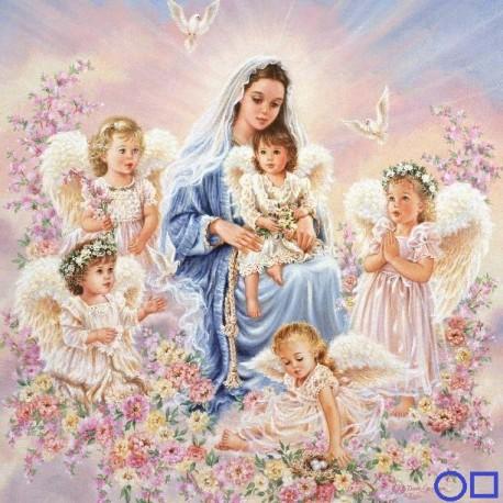 Goblen de diamante - Fecioara Maria si ingeri
