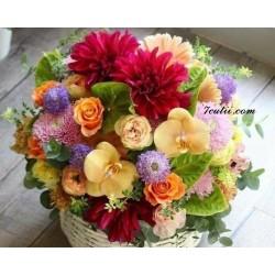 Pictura pe numere - Flori colorate Pentru ziua ta