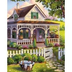 Pictura pe numere -Vila de vara a vecinilor