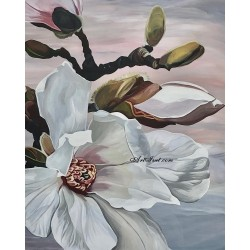 Pictura pe numere - Magnolia alba