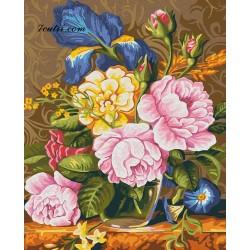 Pictura pe numere - Farmecul florilor mele
