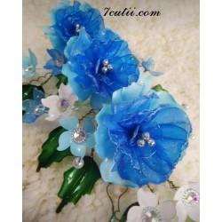 Pictura pe numere - Frumusete tandra si albastra