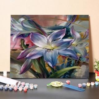 Pictura pe numere – Flori in nuante de purpura