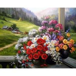 Pictura pe numere - Florile matusei mele Mariana