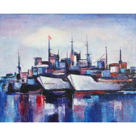 Pictura pe numere - La port