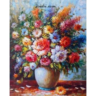 Pictura pe numere - Flori colorate ca viata