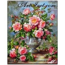 Goblen de diamante Trandafiri englezesti