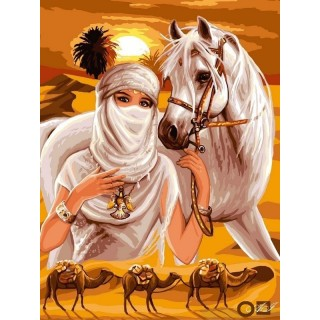 Goblen de diamante - Araboaica cu calul alb