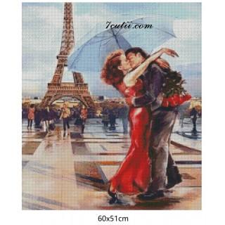 Goblen de diamante Dragoste in Paris