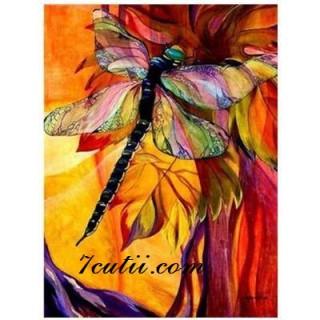 Pictura pe numere - Libelula si culorile tomnii
