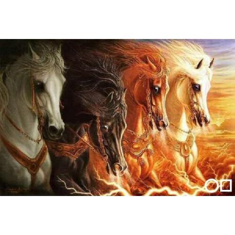 Patru cai inhamati