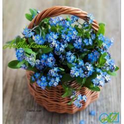Goblen de diamante Cosulet cu flori albastre