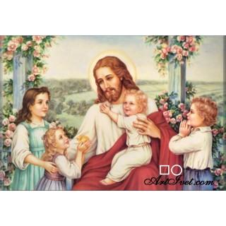 Goblen de diamante - Isus iubeşte copiii