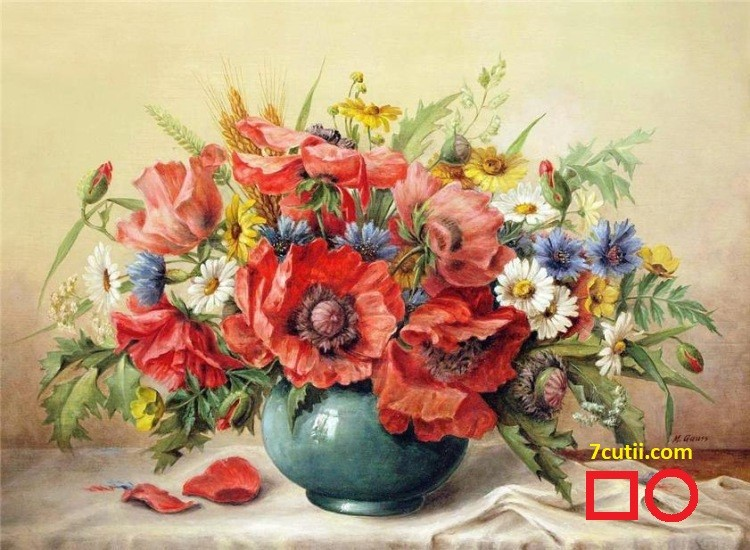 Goblen de diamante - Flori de Camp: Dimensiuni si tip - 33x24 cm Margele Circulare