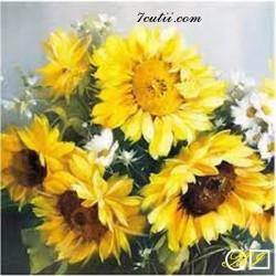 Goblen de diamante Floarea soarelui - floarea iubitа a artistilor