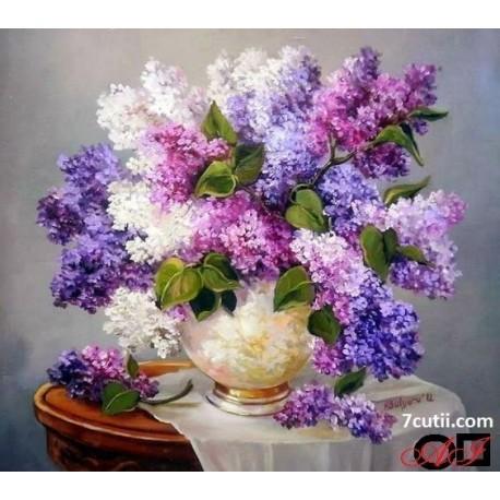Goblen de diamante - Flori de Liliac