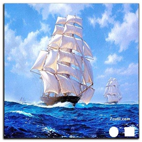 Goblen de diamante - Nava cu panze albi