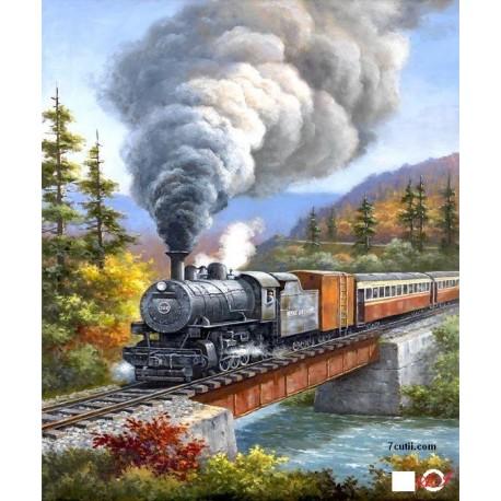 Goblen de diamante - Trenul trece langa raul mic