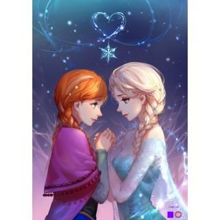 Goblen de diamante - Elsa si Anna pentru totdeauna - Frozen