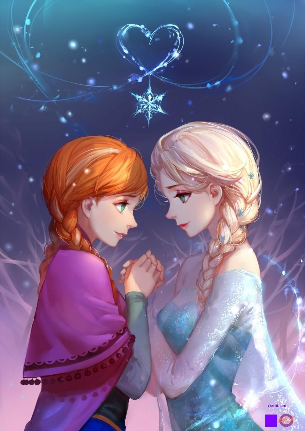 Goblen de diamante - Elsa si Anna pentru totdeauna - Frozen: Dimensiuni si tip - 25x20 cm Margele Rotunde (Circulare)