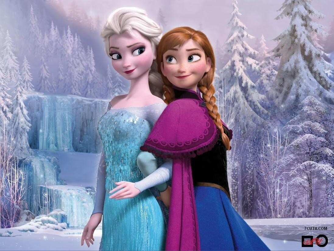 Goblen de diamante - Frosen - Elsa si Anna: Dimensiuni si tip - 40x32 cm Margele Patrate