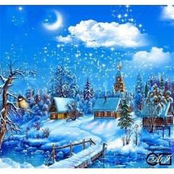 Goblen de diamante - Afara ninge cu zapada pufoasa