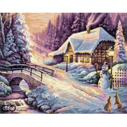 Goblen de diamante - O zi de iarna langa pod