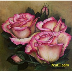 Goblen de diamante - Trandafiri aromatici