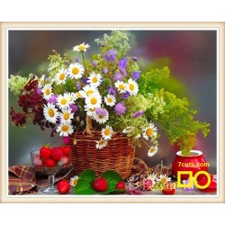 Goblen de diamante -  Flori pentru picnic