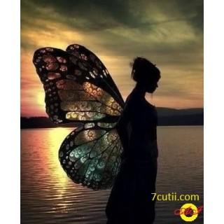 Goblen de diamante -  Fata fluture