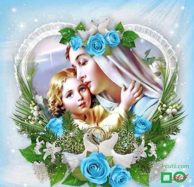 Goblen de diamante - Divina Iubire a Mamei: Dimensiuni si tip - 30x30 cm Margele Patrate