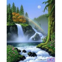 Goblen de diamante - Curcubeul deasupra cascada