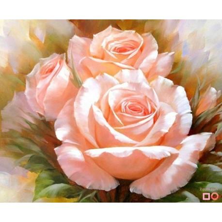 Goblen de diamante - Trandafirii roz