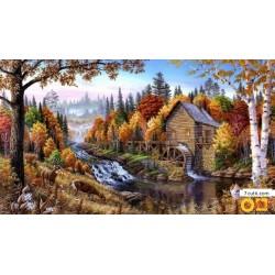 Goblen de diamante - Toamna în pădureа
