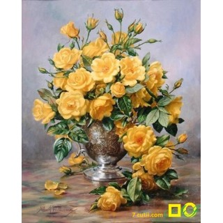 Goblen de diamante - Trandafiri galbeni