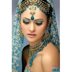 Goblen de diamante - Femeie Indiana in albastru