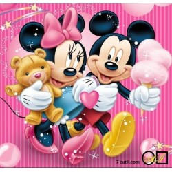 Goblen de diamante - Mickey si Minnie Mouse