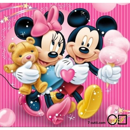 Goblen de diamante - Mickey si Minnie Mouse