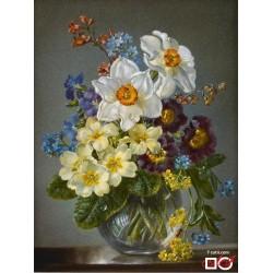 Goblen de diamante - Flori de primăvară